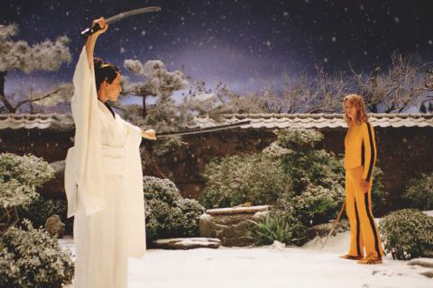 The Bride (Uma Thurman) vs O-Ren Ishii (Lucy Liu)