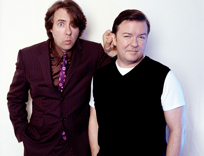 foto Jonathan Ross a Ricky Gervais