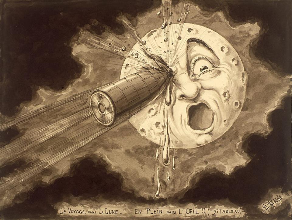 """Georges Méliès: """"Le voyage dans la lune, en plein dans l'oeil!!"""" (1902)"""