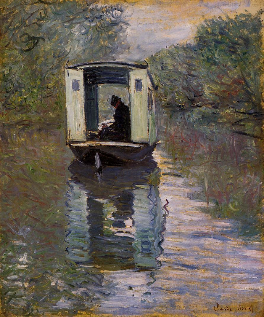 Claude Monet - The Boat Studio