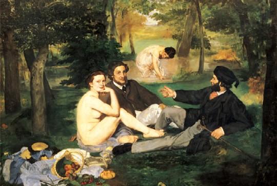 Snídaně v trávě, Manet - náhled