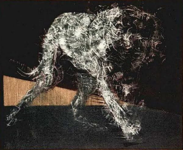 paing of a dog 1952