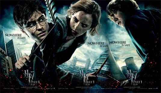 Harry Potter, Hermiona Grangerová, Ron Weasley