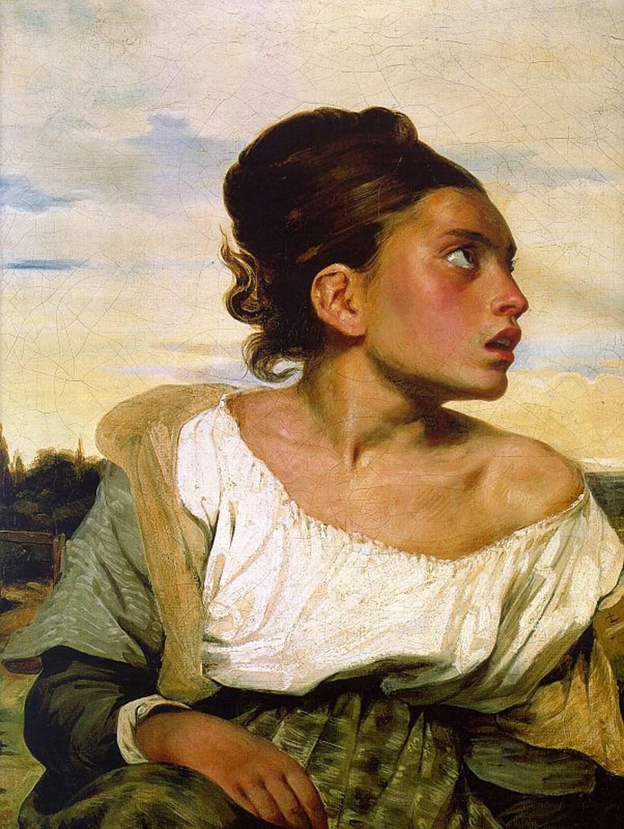 Eugène Delacroix - Jeune orpheline au cimetière