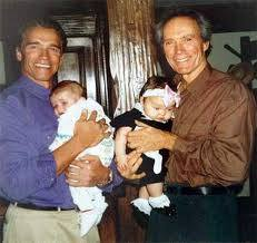 Clint s dcerou Francescou a Arnold se synem Patricem