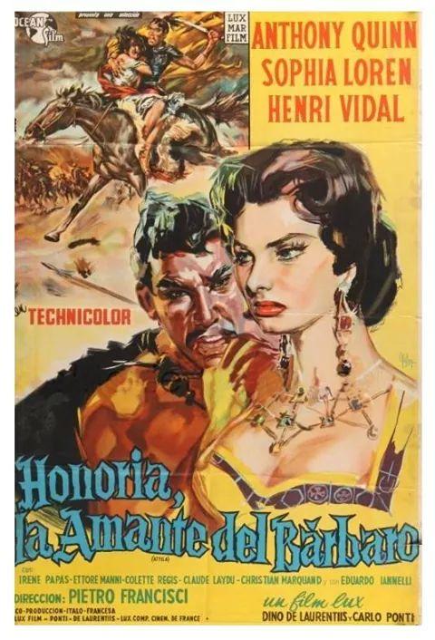 Honoria, La amante del barbaro