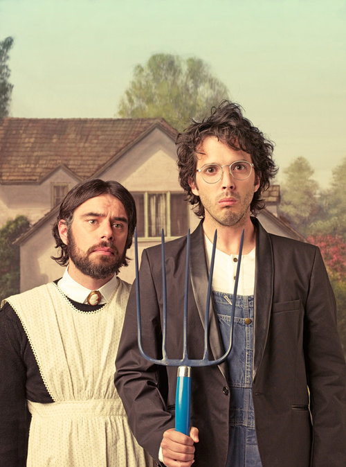 """""""American Gothic"""" tribute by Michael Muller featuring Jemaine Clement and Bret McKenzie"""