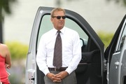 Actor Kevin Costner looks quite dapper on the set of his new film 'Draft Day' on May 21, 2013 in Cleveland, Ohio.