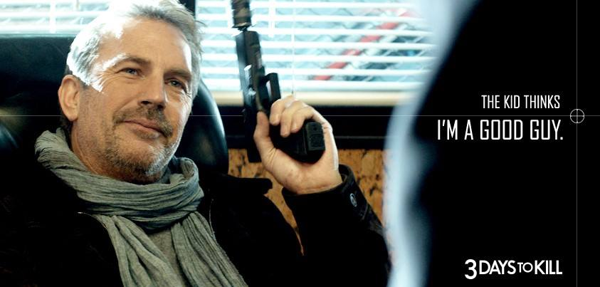 Fotka: Kevin Costner returns to form in 3 Days To Kill. In theaters February 21.