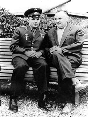 Koroljov s Gagarinem (1961)