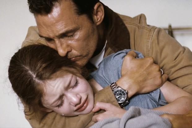 Cooper a Murph ve filmu Interstellar