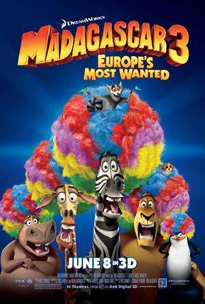 Madagaskar 3 je animák pro rok 2012, líbí se mi nejvíce ze všech dílů.(2.Místo)