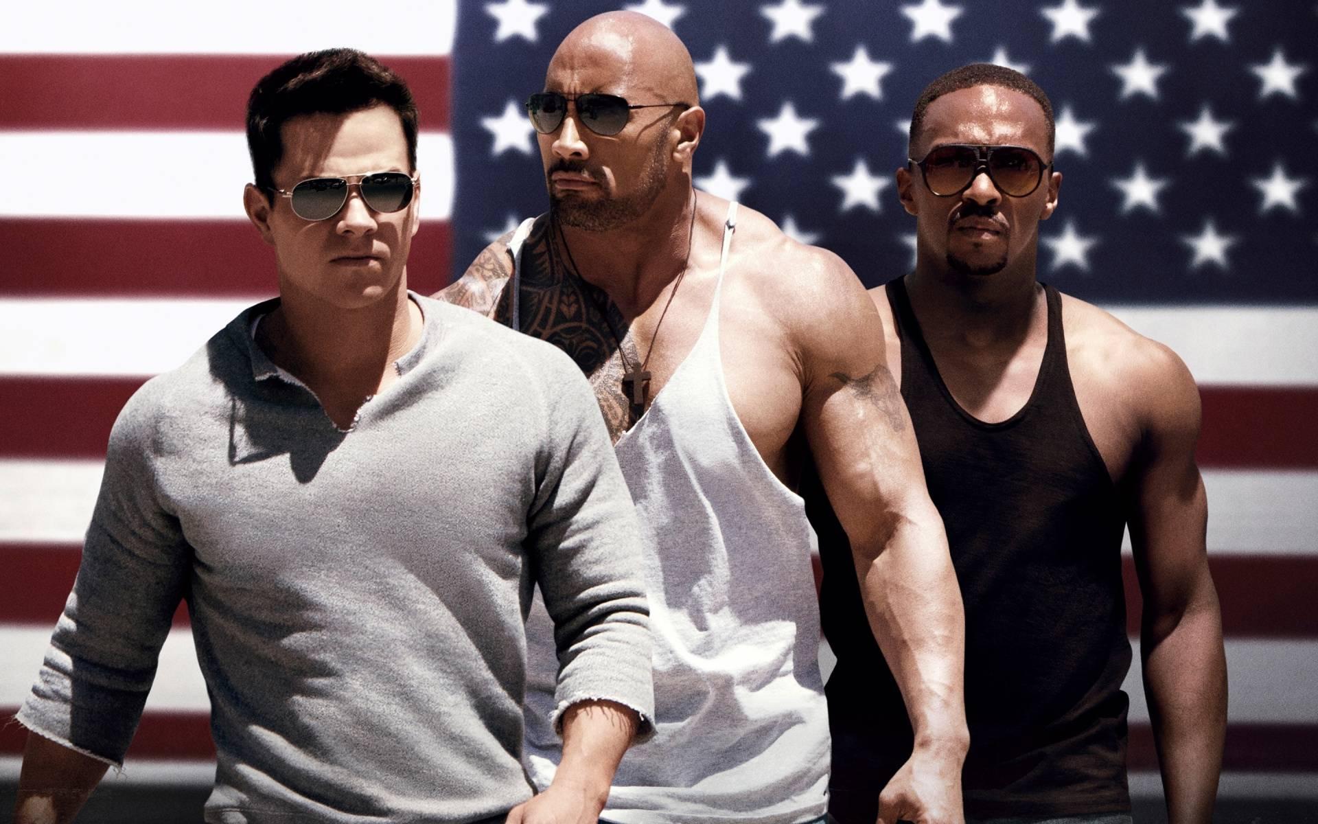 Sun Gym Gang - Mark Wahlberg, Dwayne Johnson, Anthony Mackie - Pain & Gain (2013)