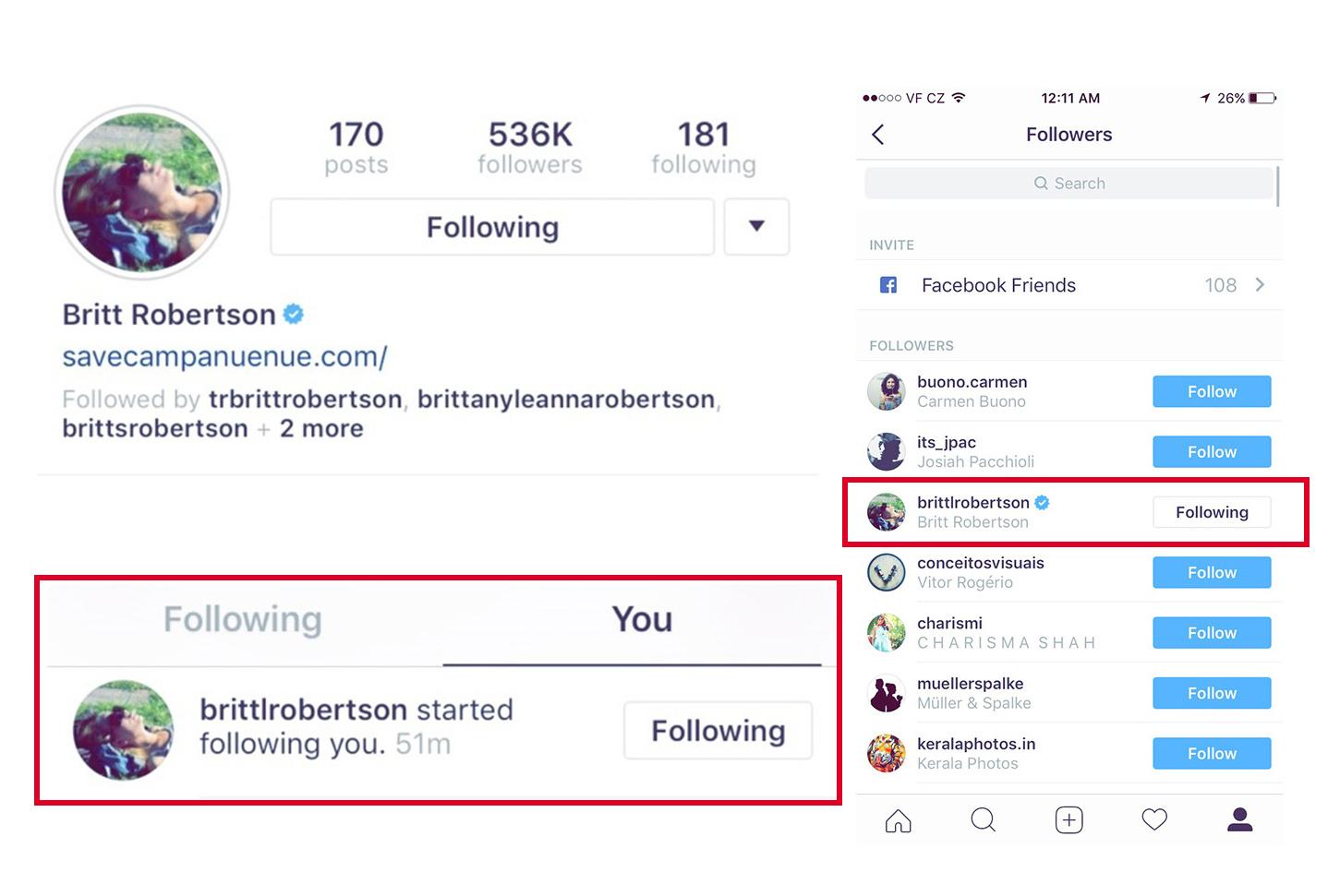 Britt mě sleduje na Instagramu!!