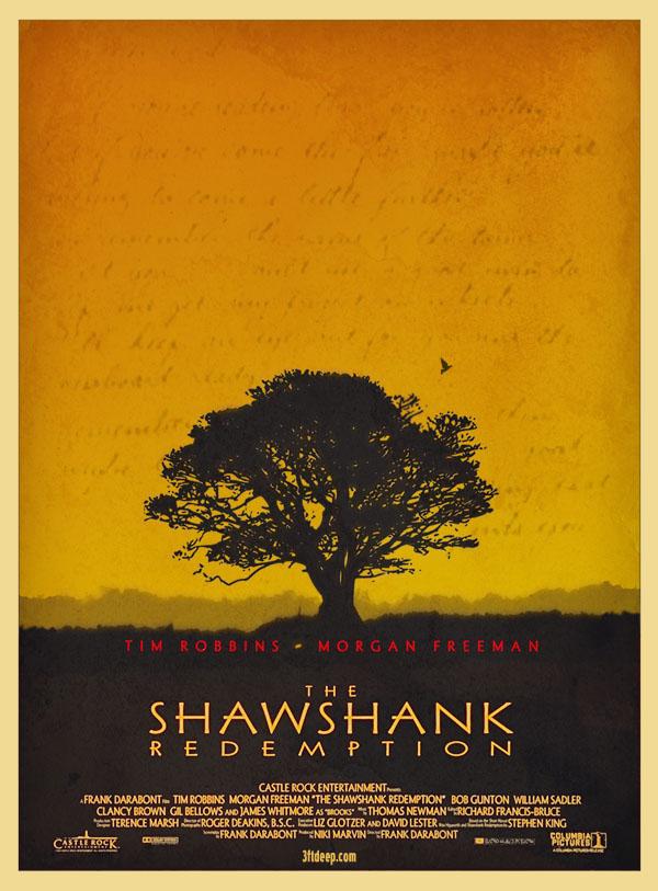 Minimal posters - Vykoupení z věznice Shawshank